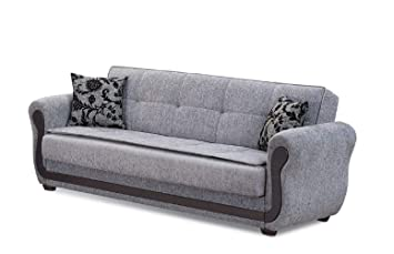 Outstanding Beyan Surf Avenue Collection Tufted Large Folding Sofa Sleeper Bed With Storage Space And Includes 2 Pillows Gray Gmtry Best Dining Table And Chair Ideas Images Gmtryco