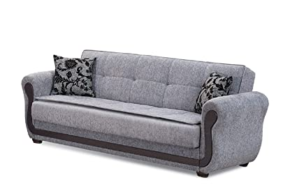 Amazon.com: BEYAN Surf Avenue Collection Tufted Large Folding Sofa ...