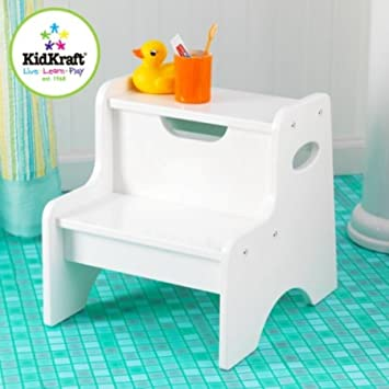 kidkraft two step child stool stepping stool for toddlers white