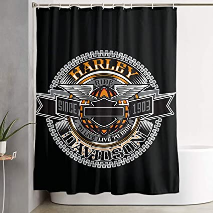 Image Unavailable Not Available For Color Golden Water Harley Davidson Lightweight Shower Curtain Liner With Hooks