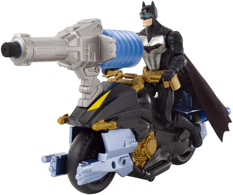 Batman FVY26 Missions Air Power Blast Attack//Bat Cycle Figura e Veicolo Giocattolo Multicolore