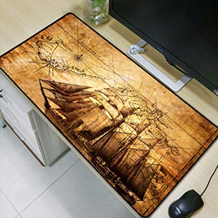 WHFDSBDLarge Gaming Mouse Pad Lock Edge Mouse Mat for Laptop Computer Keyboard Pad Desk Pad