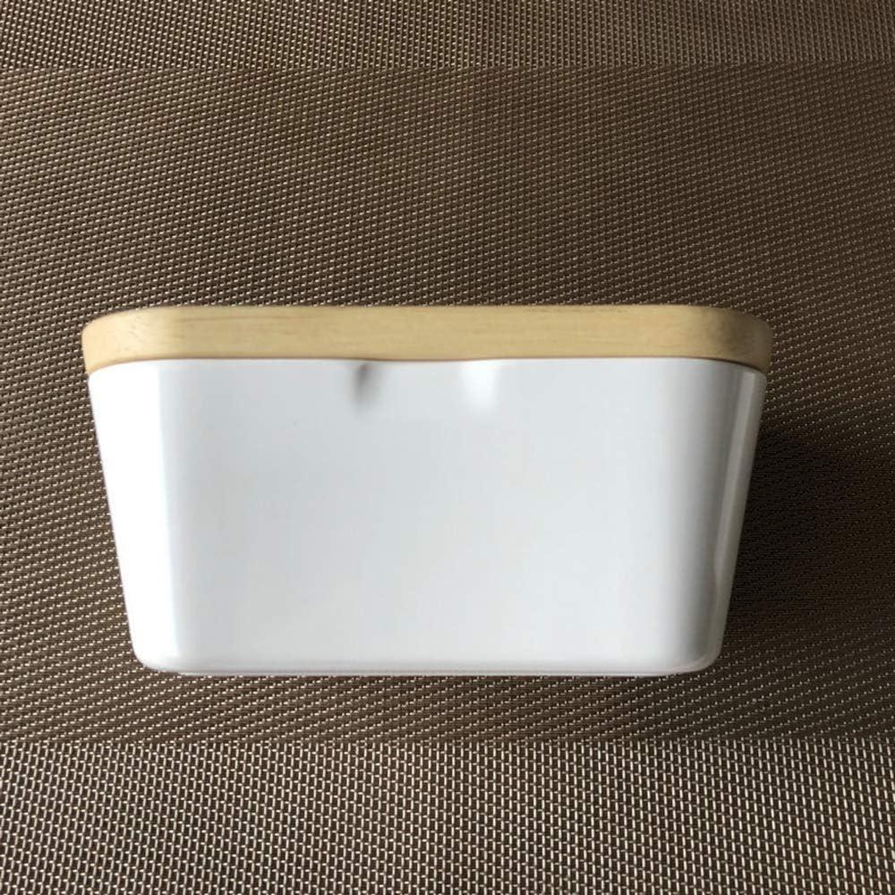 Konesky Beurrier avec Couvercle R/écipient /à Beurre Blanc Recouvert de Beurre Contenant de la Bo/îte /à Bonbons Contenant de la Nourriture
