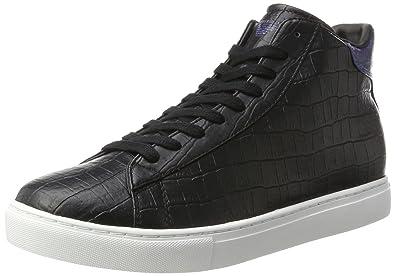 6d75e792cb0f Armani Jeans Sneaker High Cut, Baskets Hautes Homme, Noir (Nero 00020),