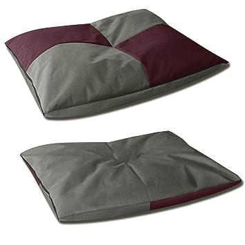 BedDog Bona 2en1 Burdeos/Gris XXXL Aprox. 140x125cm colchón para Perro, 6 Colores