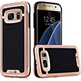 REALIKE™ Premium Shock Proof Protective Dual Layer Case for Samsung Galaxy S7, VERGE SERIES, Rose Gold