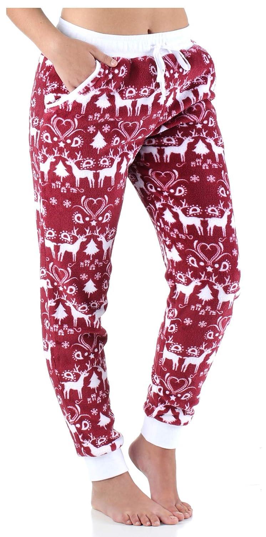 Frankie & Johnny Women's Sleepwear Fleece Pajama PJ Pants