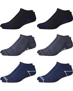 cb5d1b7b Reebok 6 Pack Mens Low Cut Performance Training Socks at Amazon ...