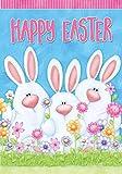 "Easter Bunny Trio House Flag Holiday Briarwood Lane 28"" x 40"""
