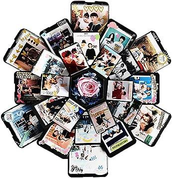 DIY Surprise Explosion Box Creative Hexagon Photo Album Memory Gift Box Romantic