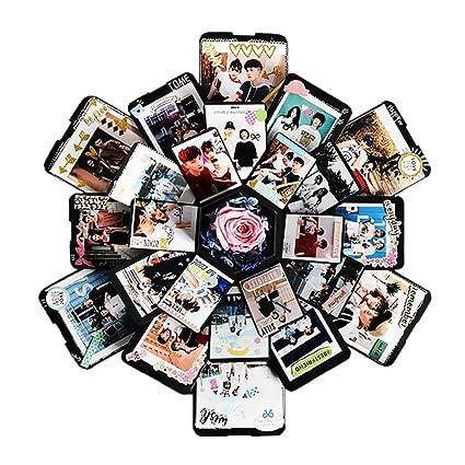 Creative Surprise Explosion Box DIY Photo Album Hexagon 5 Layer 6 Sided Storage Boxes