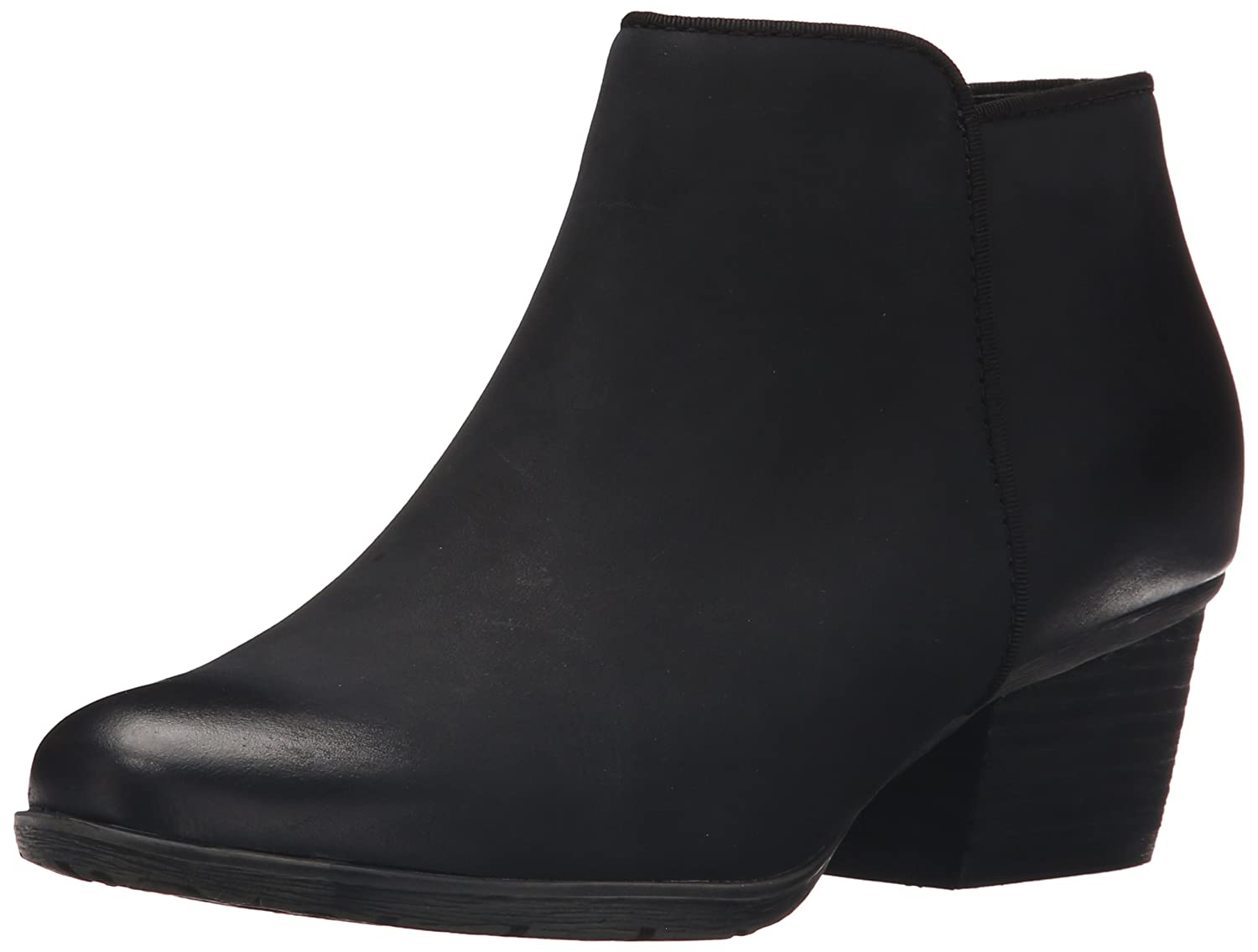 Black Leather Blondo Womens Villa Waterproof Ankle Bootie