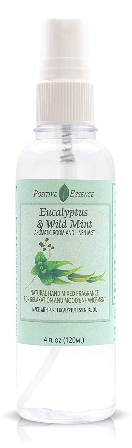Eucalyptus & Wild Mint Linen & Room Spray, Natural Aromatic Mist Made with Pure Eucalyptus and Wild Mint Essential Oils, Relax Your Body & Mind, Refreshing Home Fragrance and Bathroom Spray