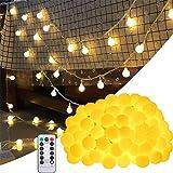 BETECK Guirnalda Luces, Luces de Cadena Impermeable 10M 100 LED 8 Modos Decorativas para Exterior, Interior, Jardines…