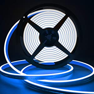LED Strip Lights Blue, Neon Rope Lights Outdoor Flexible Neon Light Rope IP65 Waterproof Silicone 12V LED Light Strip Blue Heat-Resistant 16.4 Ft/5m for Indoor Outdoor Home Decoration