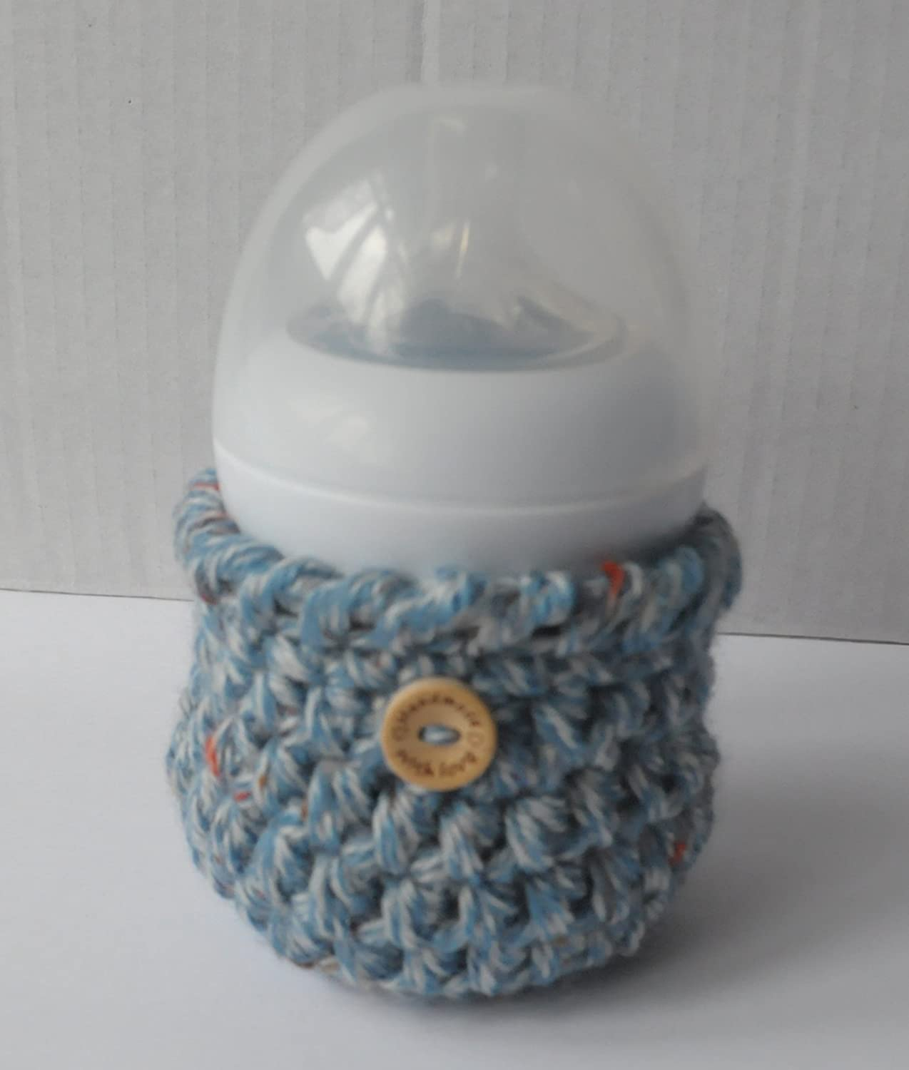 One Of a Kind Elasticated 125ml Baby Bottle Warmer Infant Gift Blue Multicolour Fleck