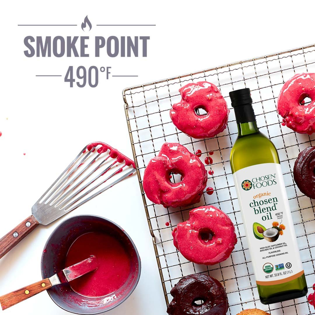 Chosen Foods Organic Chosen Blend Oil 1 L, Non-GMO for High-Heat Cooking, Baking, Frying, 490° F Smoke Point by Chosen Foods (Image #7)