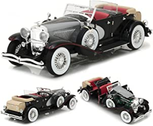 1934 Duesenberg II SJ Black and Silver 1/18 by Greenlight 13504