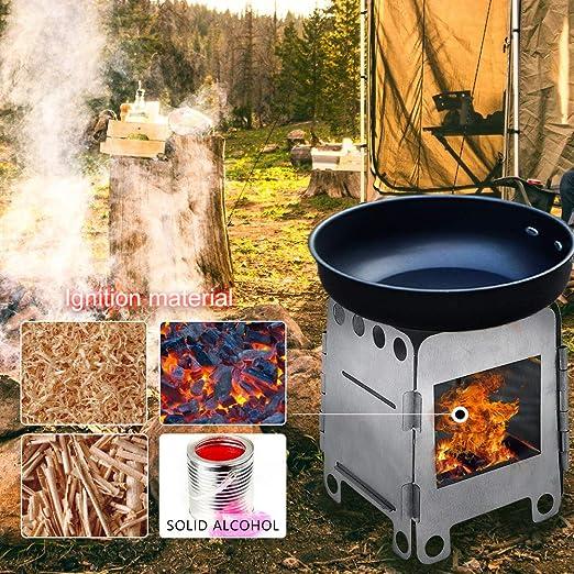 Wilxaw Estufa de Camping Plegable, Hornillos Portátiles de ...