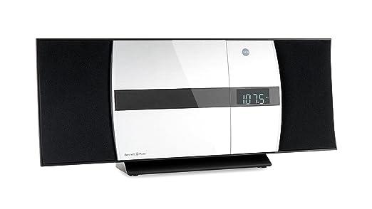 Bennett & Ross Ålesund Vertikal Stereoanlage - HiFi Microanlage mit CD-Player, MP3, UKW-Radio, USB und Bluetooth mit NFC - St