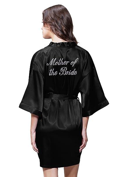 9af7c819b3b9 Satin Kimono Rhinestone  quot Mother of the Bride quot  Robe (Small Medium