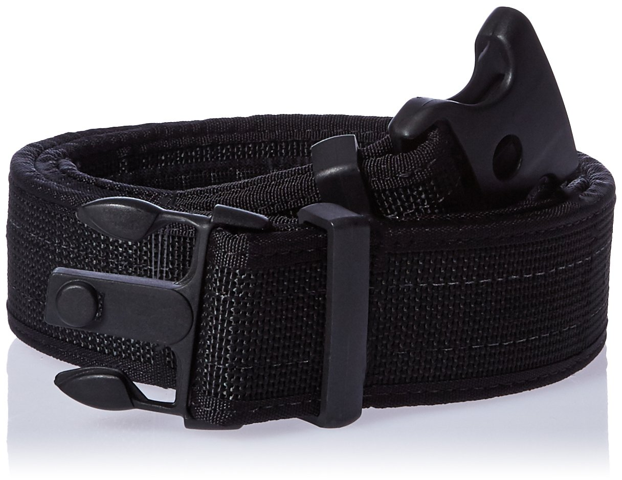 Uncle Mike's Kodra Hook and Loop Lining Ultra Duty Belt with Nylon Web (Medium, Black)