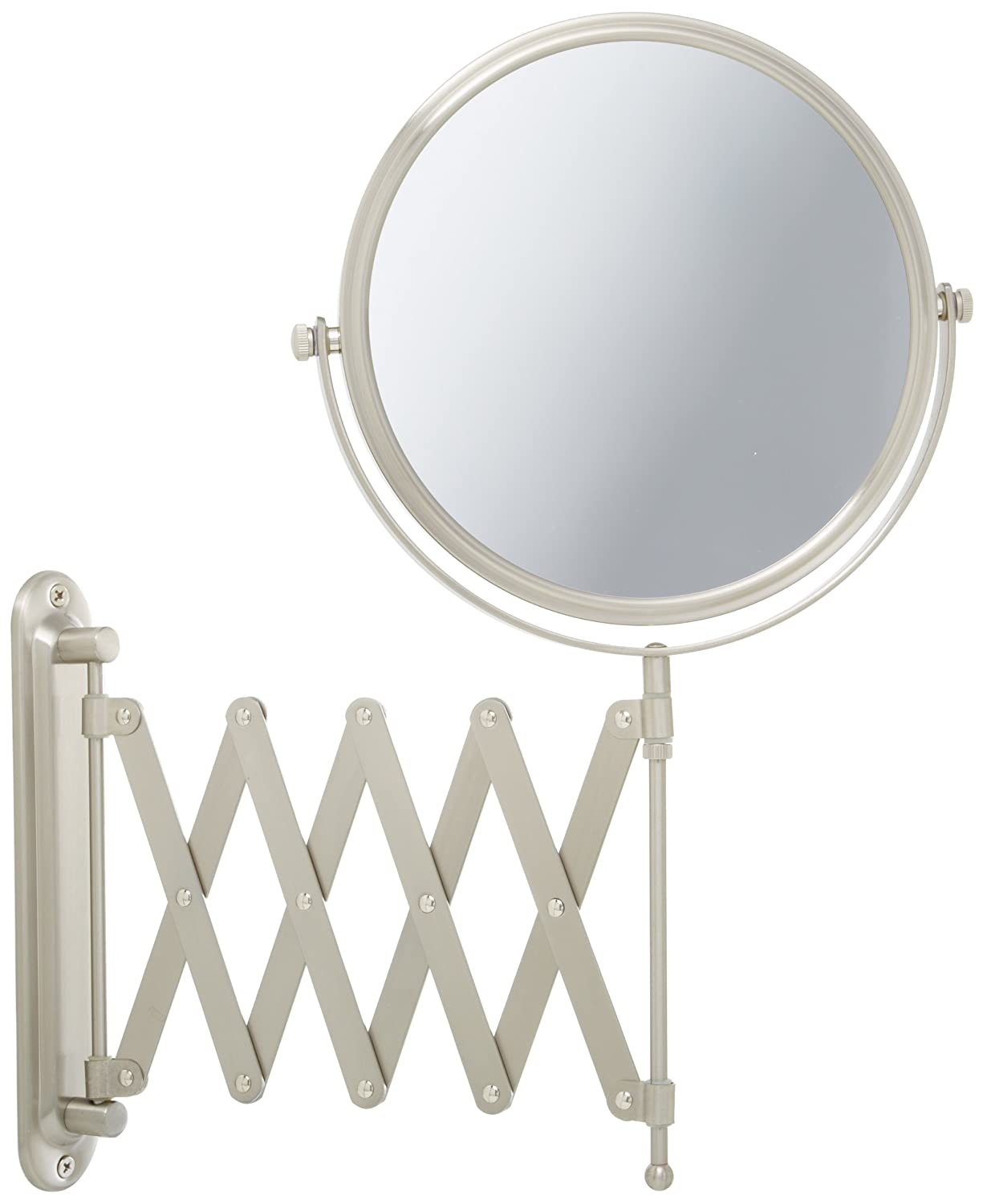 Wall mounted makeup mirror square 3x in wall mirrors - Amazon Com Jerdon Jp2027n 8 Inch Wall Mount Makeup Mirror With 7x Magnification Nickel Finish Beauty