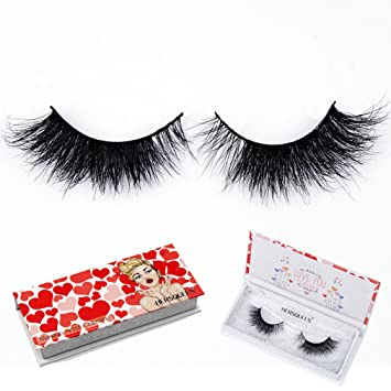 28f0e12073e Amazon.com : Mink 3D Lashes Strip With Luxury Gift Box 100% Handmade  Eyelashes Reusable And Natural Both Short Length Lashes And Medium Length  Eyelashes ...