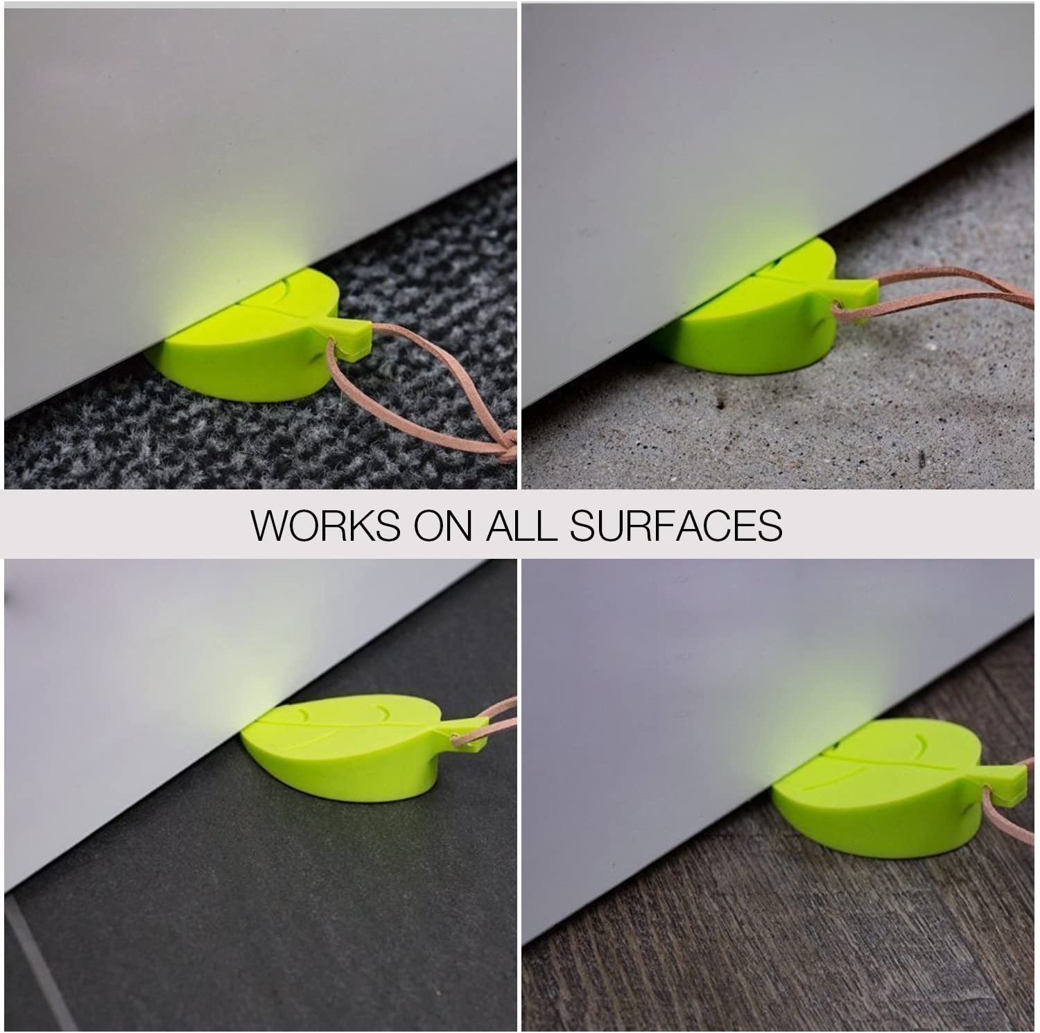 Morning Hope Silicone Door Stopper Wedge Finger Protector