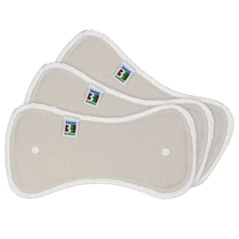 HappyEndingsTM Newborn 4 Layer Hemp//Organic Cotton Inserts for Diapers 10 Pack