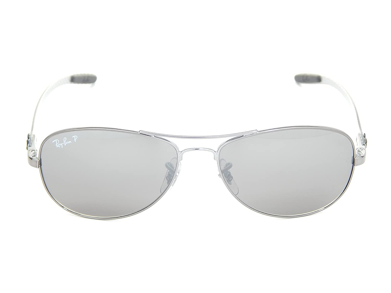 b143bbb9238188 New Ray Ban RB8301 004 N8 Tech Matte Gunmetal Gray Polarized Mirror 59mm  Sunglasses  Amazon.fr  Vêtements et accessoires
