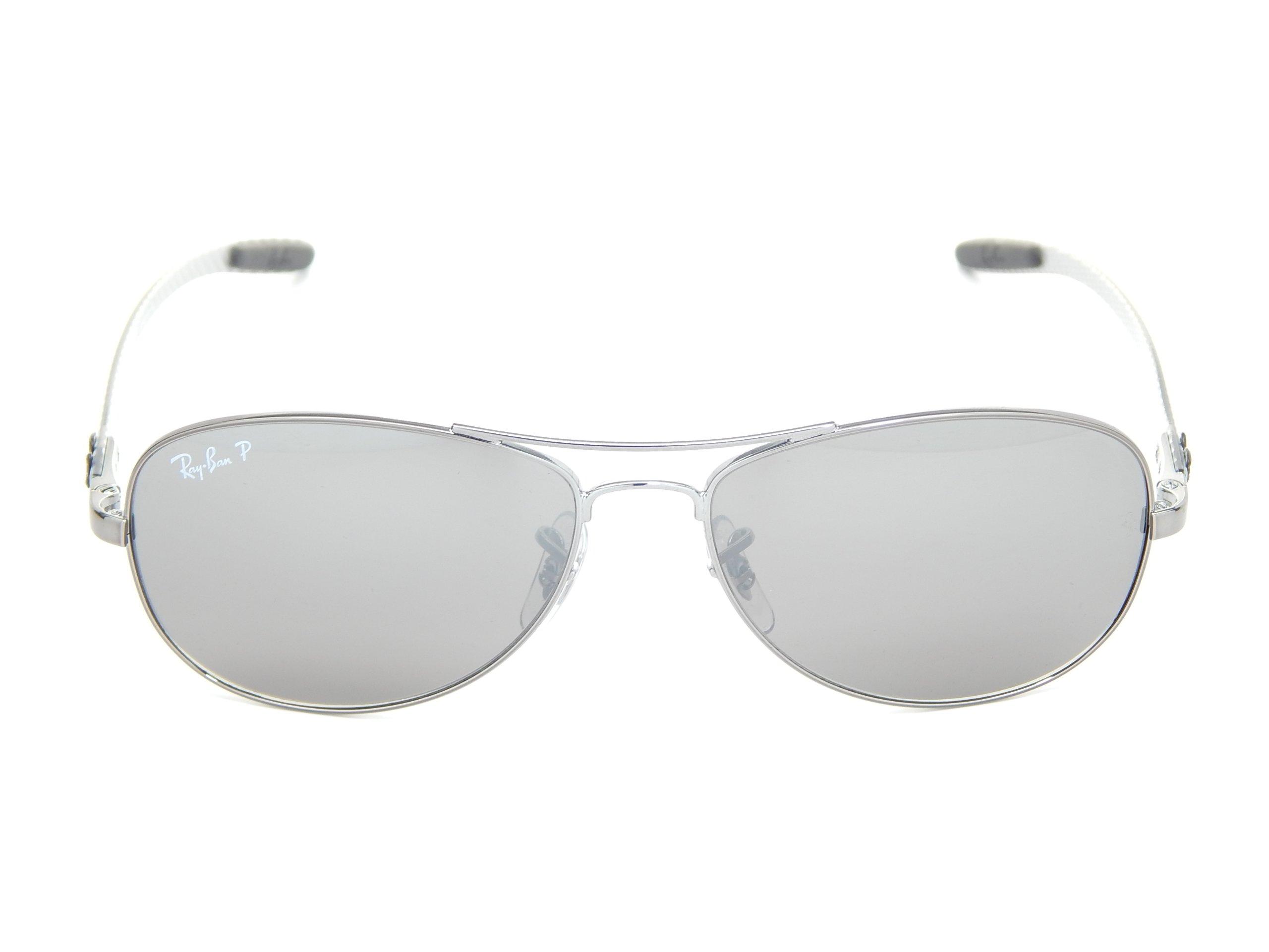 565e3458448 New Ray Ban RB8301 004 N8 Tech Matte Gunmetal Gray Polarized Mirror 59mm  Sunglasses Apparel