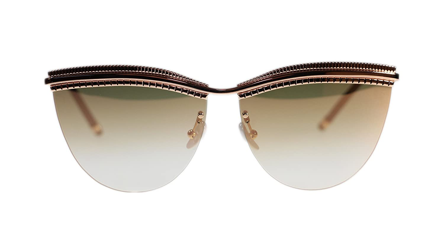 Boucheron Sunglasses BC0028S 002 Gold with Gold Lens Cat Eye 64mm Authentic