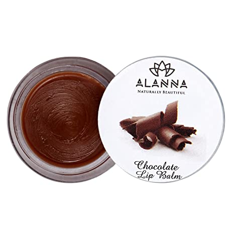 Alanna Naturally Beautiful Chocolate Lip Balm with Shea Butter, Coconut Oil  and Cocoa for Men and Women, 8 g