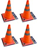 "4 X 18"" COLLAPSIBLE PULL OUT POP UP SAFETY EMERGENCY ACCIDENT TRAFFIC ROAD CONES"