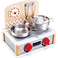 Hape 2-in-1 Kitchen & Grill Toy Set, Multicolor (E3151)