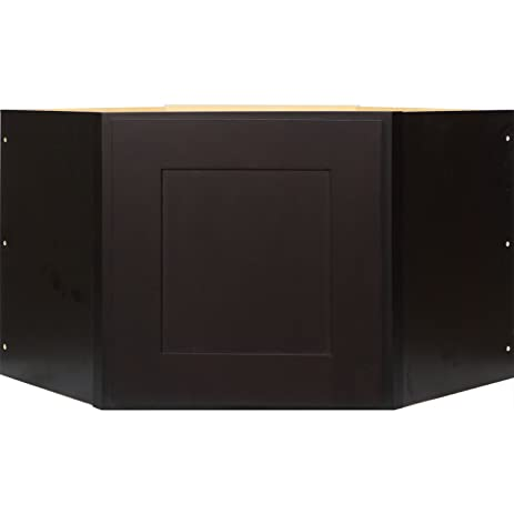 Genial Everyday Cabinets 27 Inch Appliance Garage Wall Cabinet In Shaker Espresso  With 1 Soft Close Door