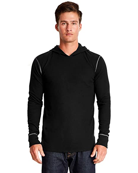 a86a8e901a48e Next Level Mens Ribbed Cuffs Thermal Hoodie at Amazon Men's Clothing ...