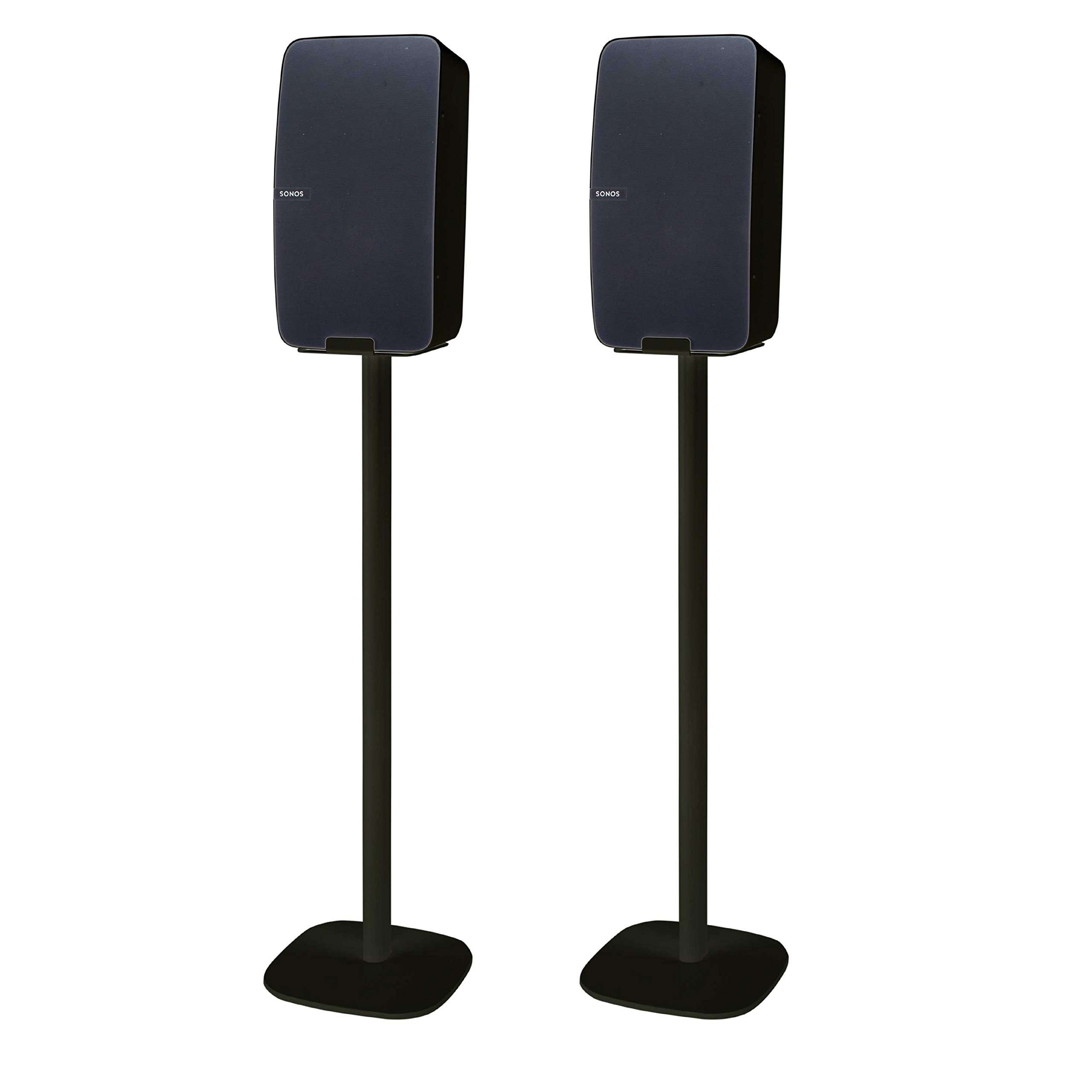 Vebos Floor Stand Sonos Play 5 gen 2 Black Set - Vertical en Optimal Experience in Every Room - Compatible with Your Sonos Play 5 Speaker by Vebos