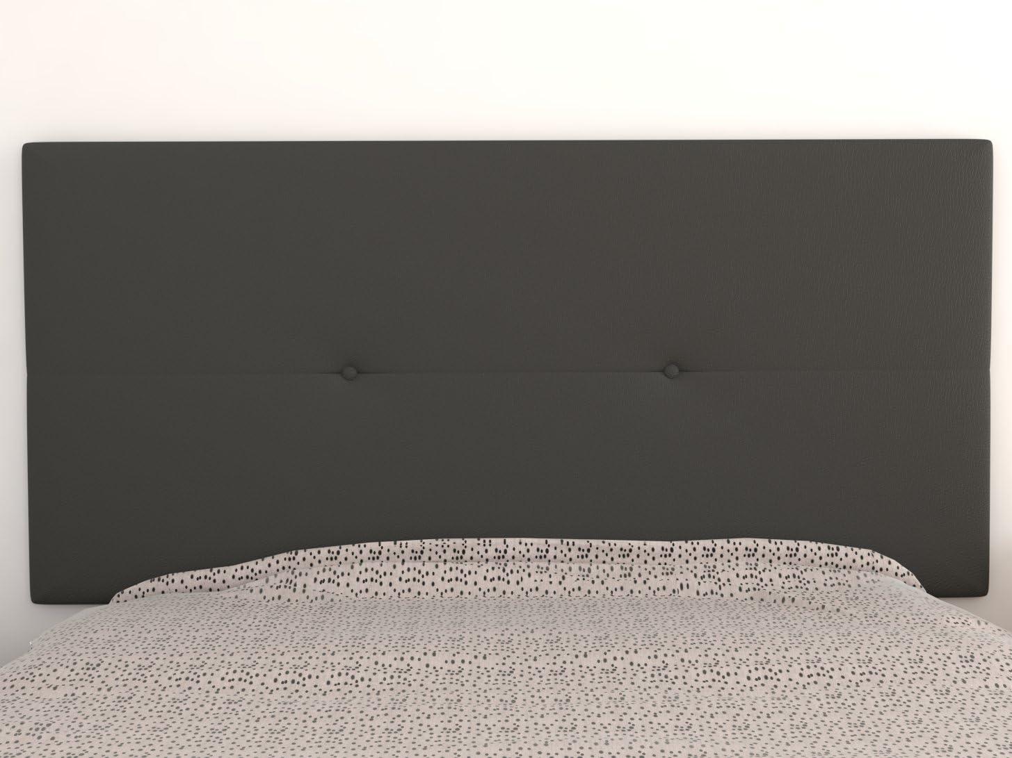 90 y 105 cms para Camas de 80 Polipiel Color Beige LA WEB DEL COLCHON Cabecero de Cama tapizado Acolchado Juvenil Julie 115 x 55 cms Incluye herrajes para Colgar con regulador de Altura