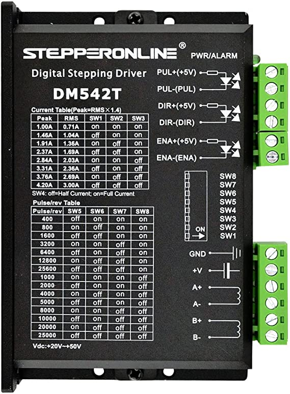 stepperonline CNC Digital motor paso a paso conductor 1.0 – 4,2 A ...