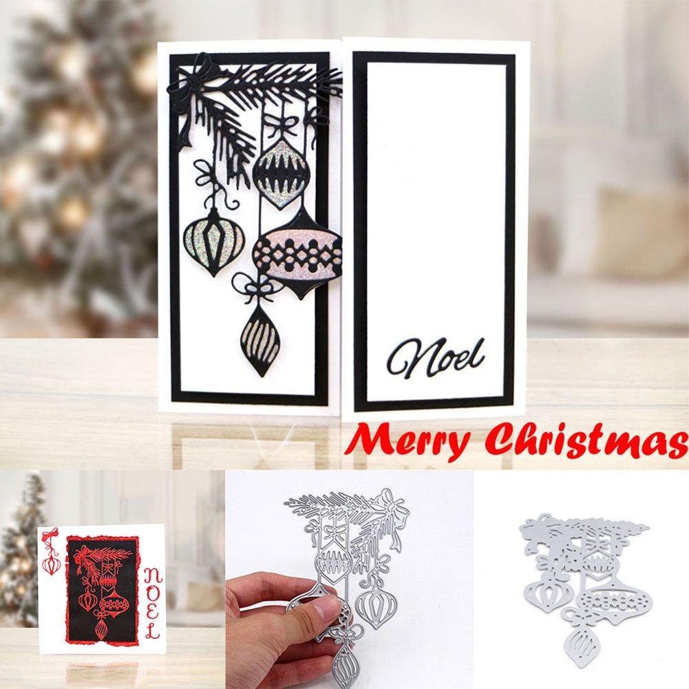 HuhuswwBin Stanzformen,Scrapbooking, Weihnachten Kohlenstoffstahl Stanzformen Schablone Scrapbook Papier Karte Prägen DIY Handwerk