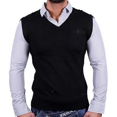 Sixth June Designer Herren Pullover Sweatshirt Hemd Pulli Schwarz Sj