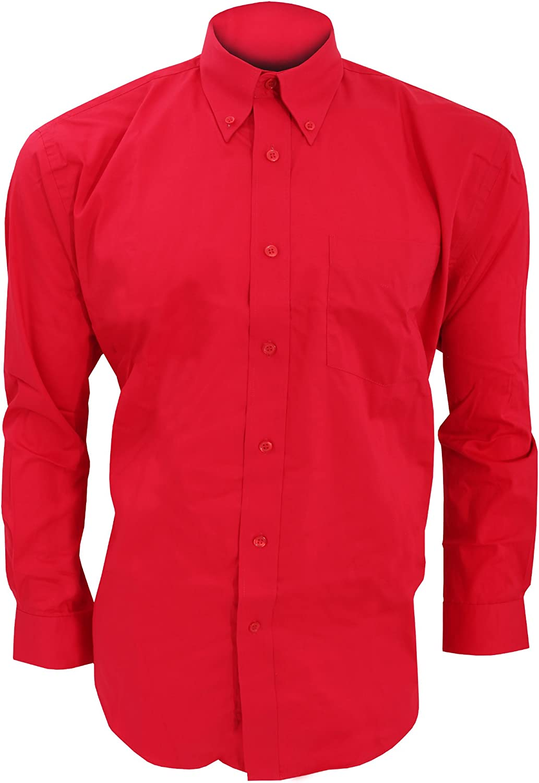 Fiesta//Trabajo//Eventos Camisa de manga larga formal Modelo Oxford Corporate hombre caballero Kustom Kit