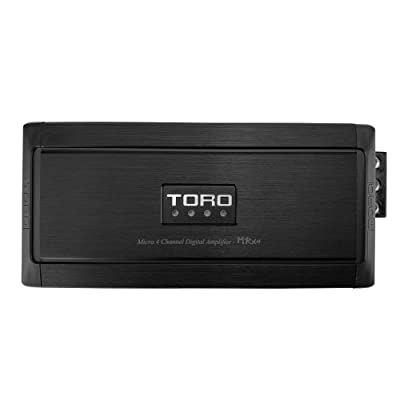TORO TECH - MRx4, 80 Watts x 4 RMS @ 4 Ohm / 130w x 4 RMS @ 2 Ohm Micro Sized Multi-Channel Car Amplifier, Sound Quality Class D Design, Auto Turn-On, Full Range Speaker or Subwoofer Amplifier: Car Electronics