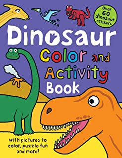 Color And Activity Books Dinosaur With Over 60 Stickers Pictures To Puzzle