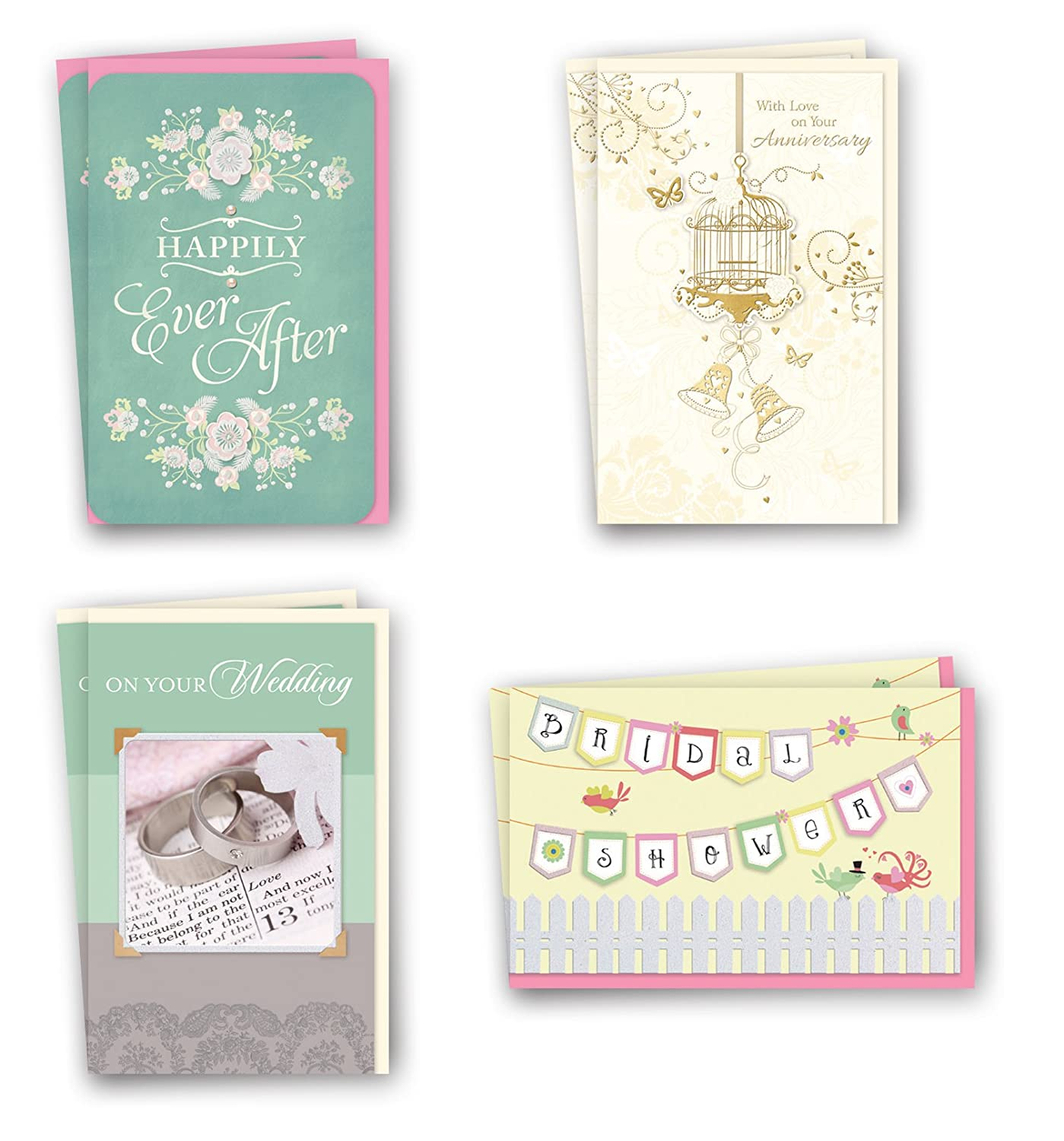 Amazon Assorted Wedding Cards Bulk Card Set of 8 Cards with