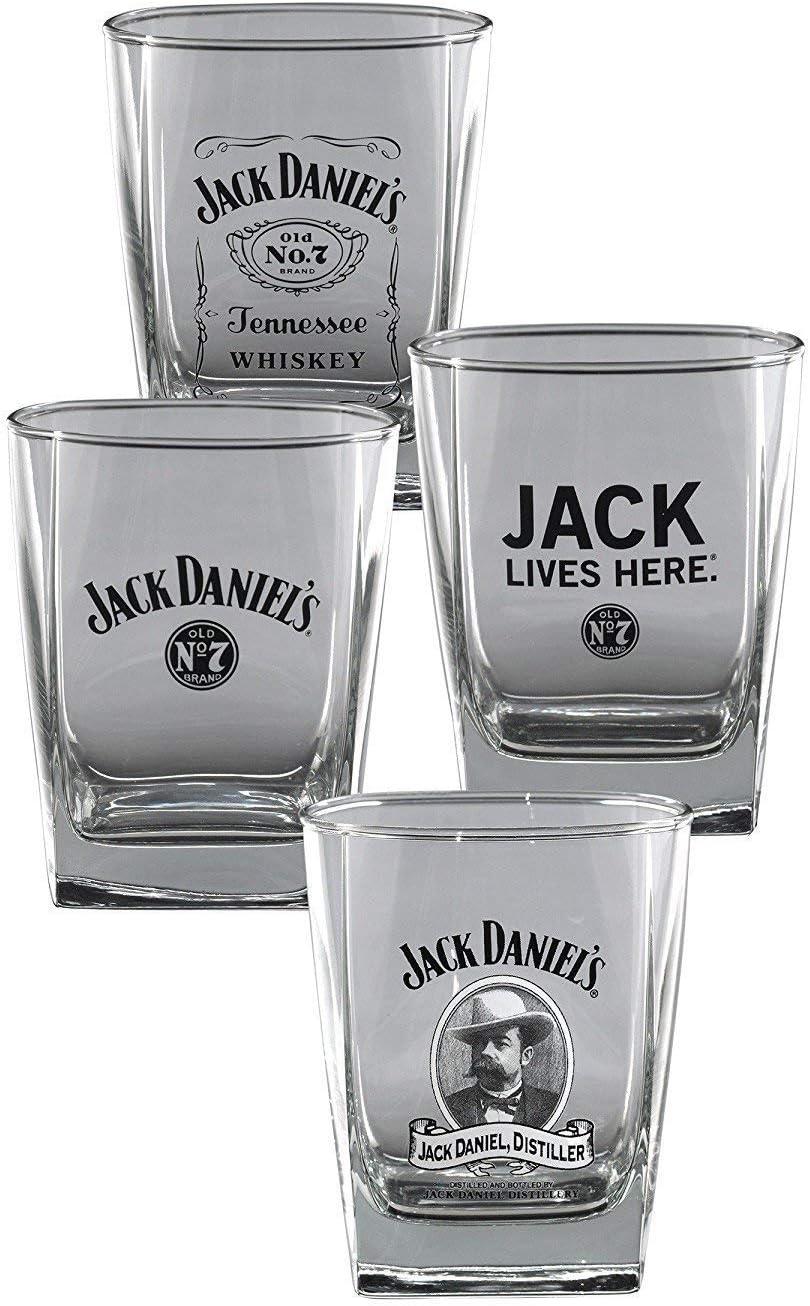 Jack Daniel's Double Old Fashioned Glass DOF Set of 4