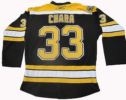 Zdeno Chara Autographed Boston Bruins Jersey W PROOF 5d7b3ce9926