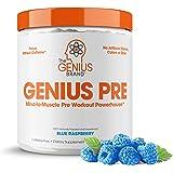 Genius Pre Workout Powder – All Natural Nootropic Preworkout & Caffeine Free Nitric Oxide Booster w/Beta Alanine & Alpha GPC